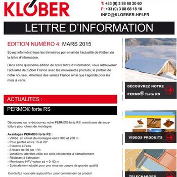 Newsletter Klober
